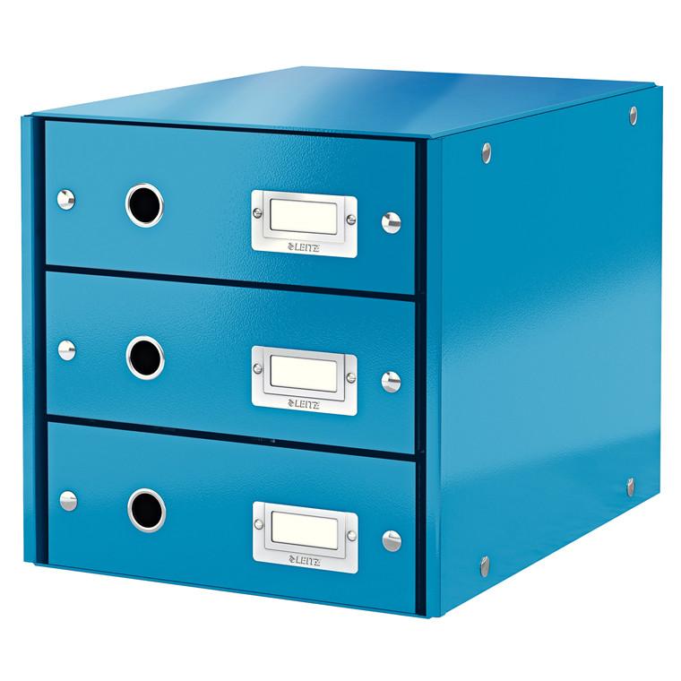Leitz Click & Store skuffekabinet med 3 skuffer - Blå