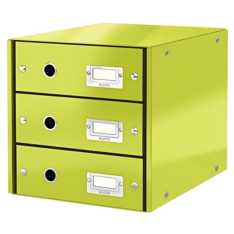 Leitz Click & Store skuffekabinet med 3 skuffer - Grøn