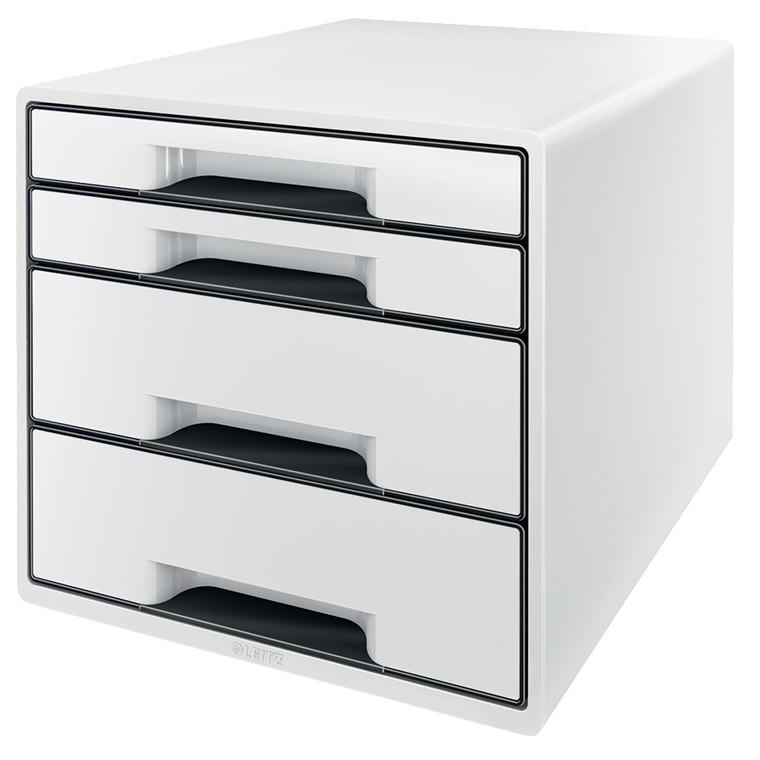 Skuffekabinet Leitz Desk Cube 4-skuffer hvid