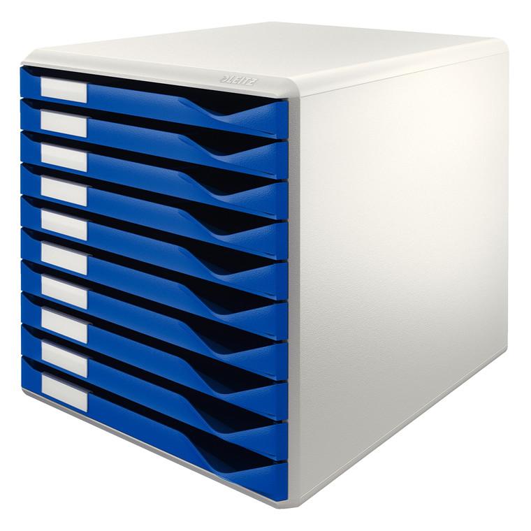 Leitz Post A4 skuffekabinet med 10 skuffer - blå