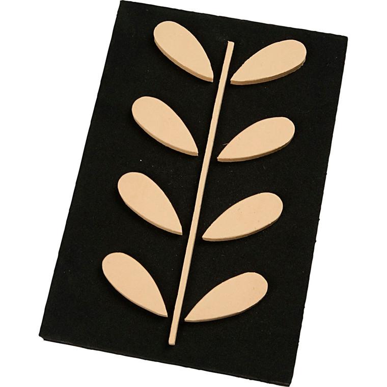 Skumstempel, str. 18x12 cm, tykkelse 3 mm, rønneblad, 1stk.