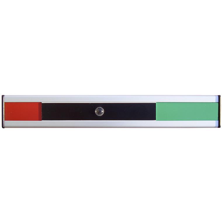 Skydeskilt rød og grøn - Aluminium 200 x 31 mm