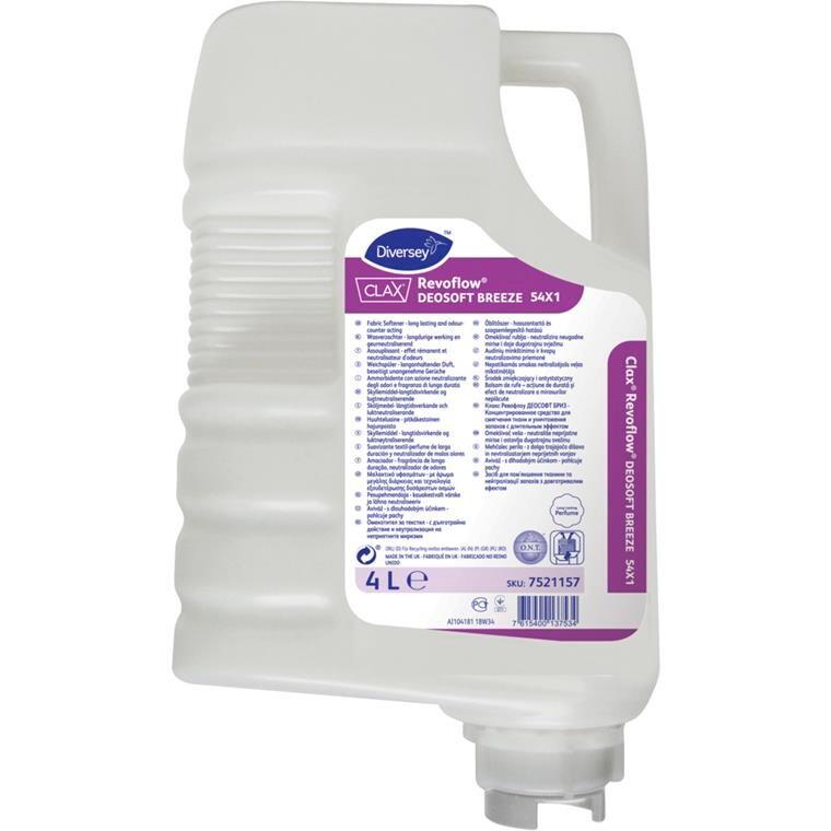Skyllemiddel, Clax Revoflow Deosoft Breeze, langtidsvirkende, lugtneutraliserende, 4 l