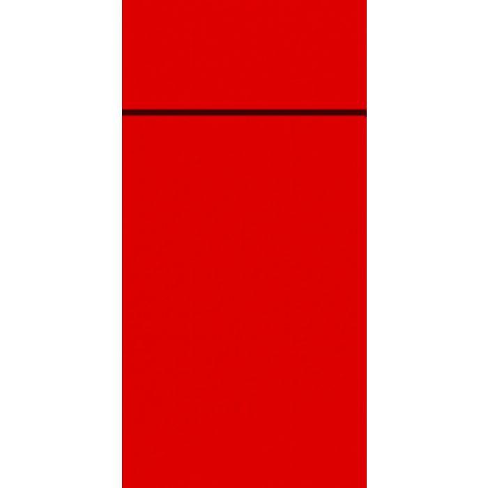 Slim bestikserviet, Duniletto, 1/8 fold, rød, 40x33 cm