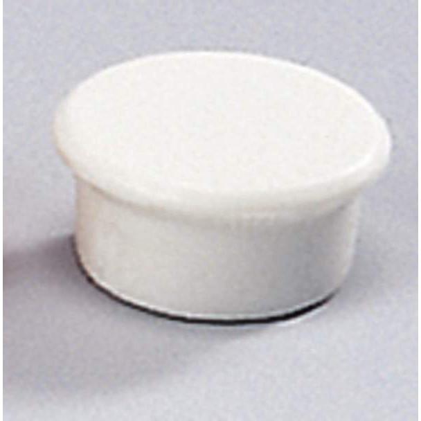 Små magneter - Dahle 13 mm rund hvid - 10 stk.