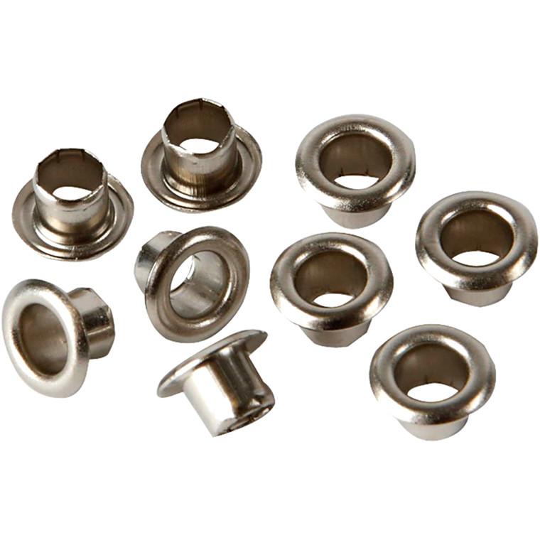 Snøreringe, dia. 7,5 mm, H: 4,5 mm, sølv, 100stk., hulstr. 4 mm