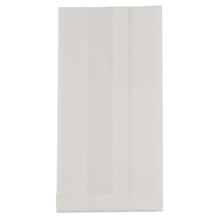 Søsyge pose 150/55x300mm 70 gr hvid med pe 1000 stk/pak