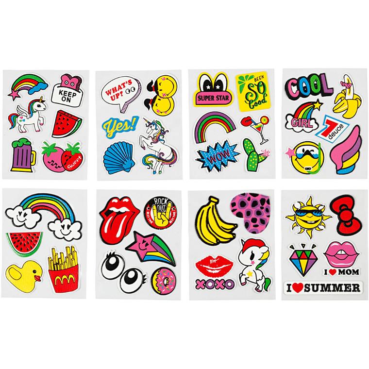 Soft Stickers, ark 12,2x17,75 cm, 8ark