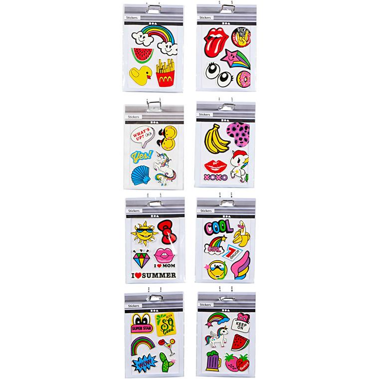 Soft Stickers, ark 12,2x17,75 cm, 8x10ark