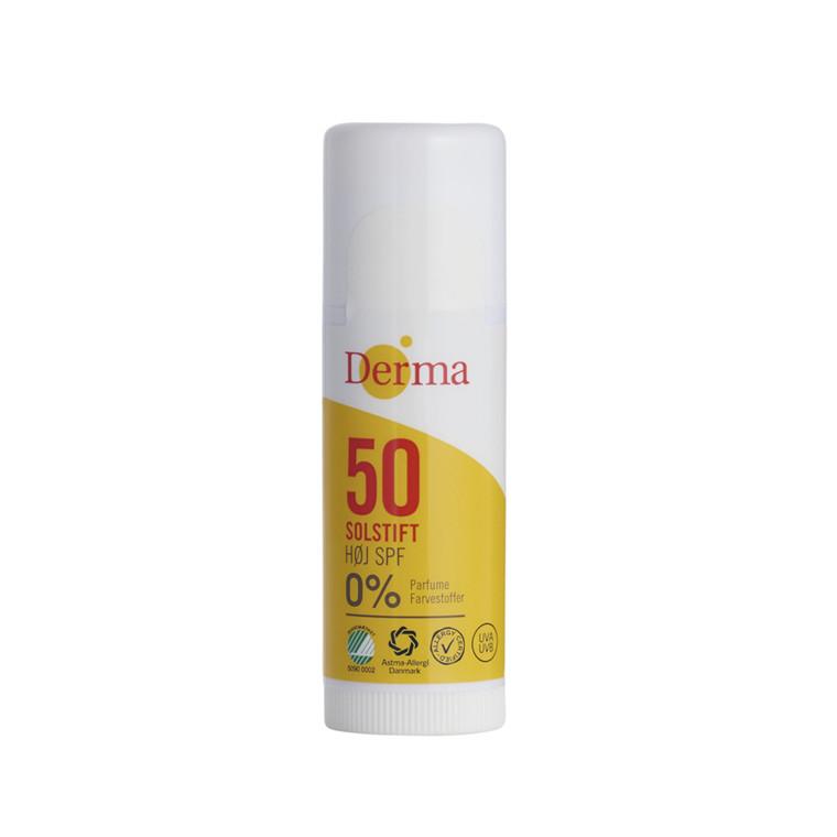 Solcreme, Derma, Solstift SPF 50, 15 ml