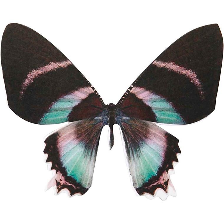 Sommerfugl højde 6,1 cm bredde 7 cm Paris 300 gram | 20 stk.