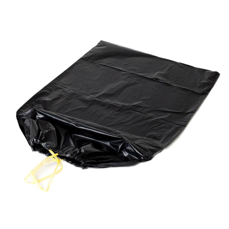 Sort Affaldssæk Luxus med snoretræk - 700 x 1100 mm - 1 rulle