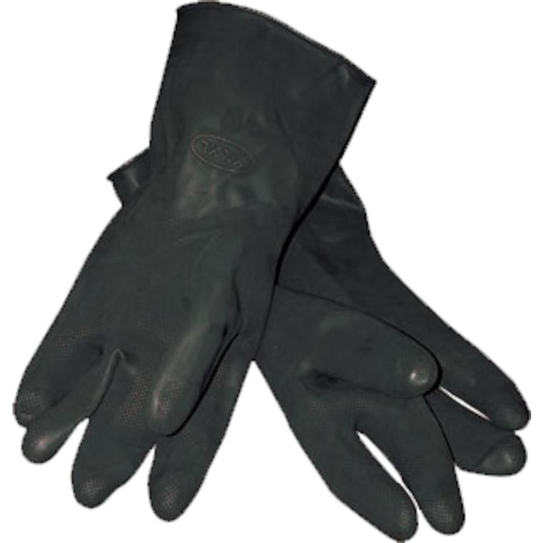 Sort Latex Handske - Størrelse 10