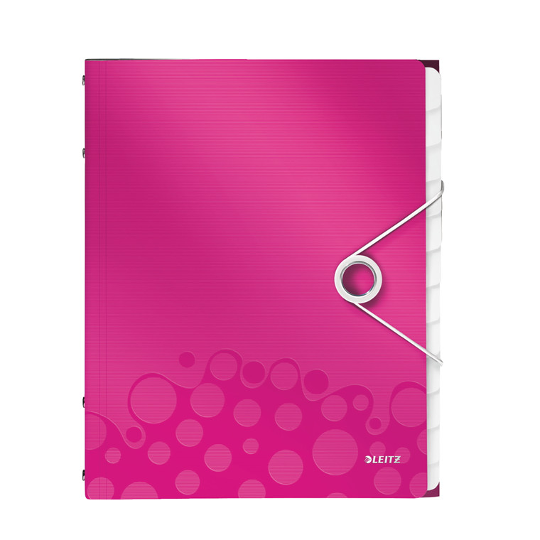 A4 sorteringsmappe med 12 rum Leitz WOW - Pink