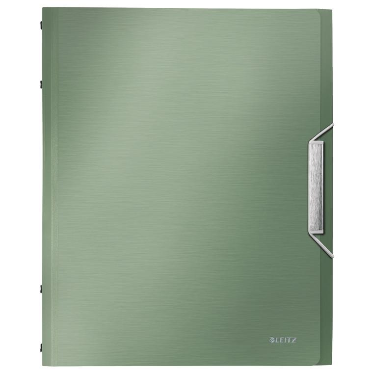 Leitz Style A4 sorteringsmappe grøn - 6 rum