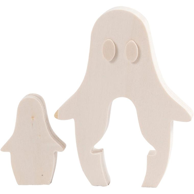 Spøgelser højde 6 + 11,5 cm bredde 4 + 9 cm krydsfiner | dybde 1,2 cm