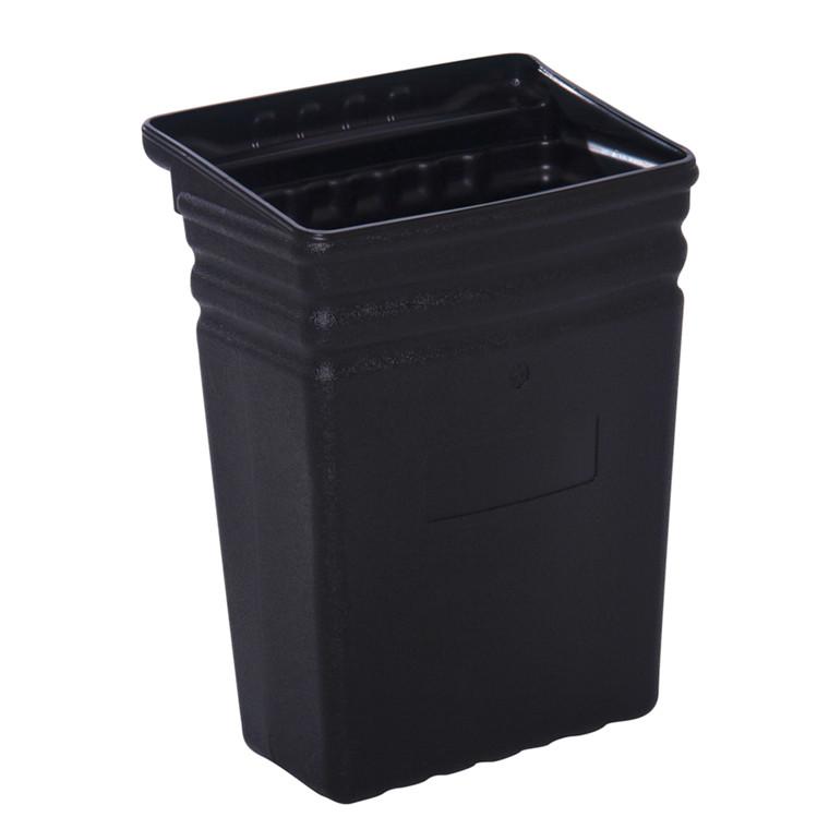 Spand, Tina Trolleys, sort, lille, til fiberplast rullebord, 35 cm,