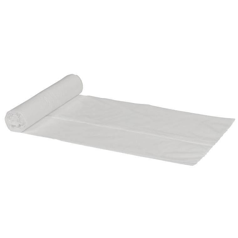 Spandepose i hvid LD 15 liter - 370 x 500 mm 30 poser pr rulle