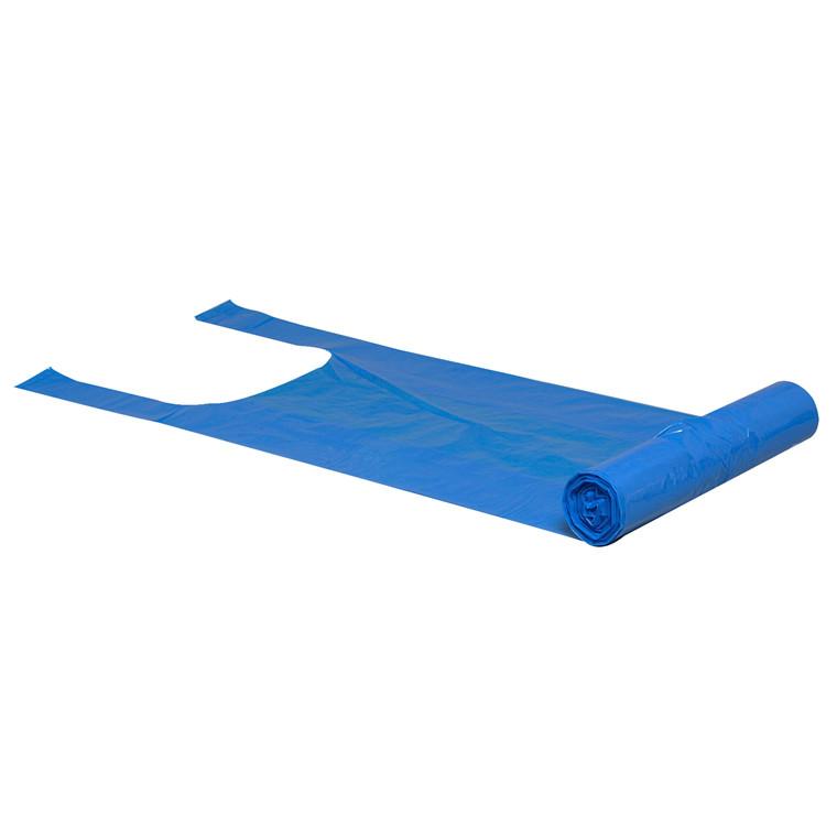 Blå Spandepose 20 liter med bærestrop - 370 x 600 mm - 1 rulle