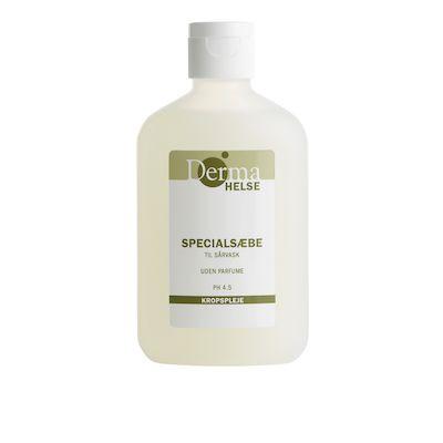 Specialsæbe til sårvask flydende, Derma Helse, uden farve og pafume, 100 ml,