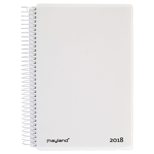 Spiralkalender 2018 hvid 12 x 17 cm 1 dag pr. side - Mayland 18 2100 10
