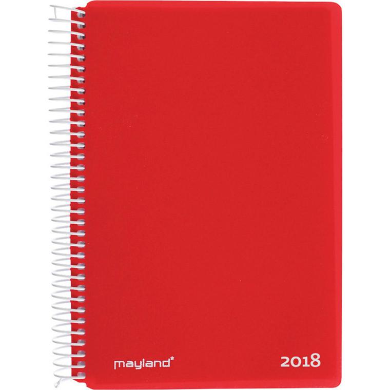 Spiralkalender 2018 rød 12 x 17 cm 1 dag pr. side - Mayland 18  2100 40