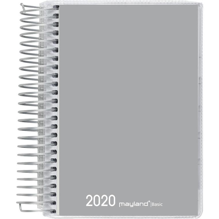 Spiralkalender Basic grå 12x17cm 1dag/side 20 2650 00