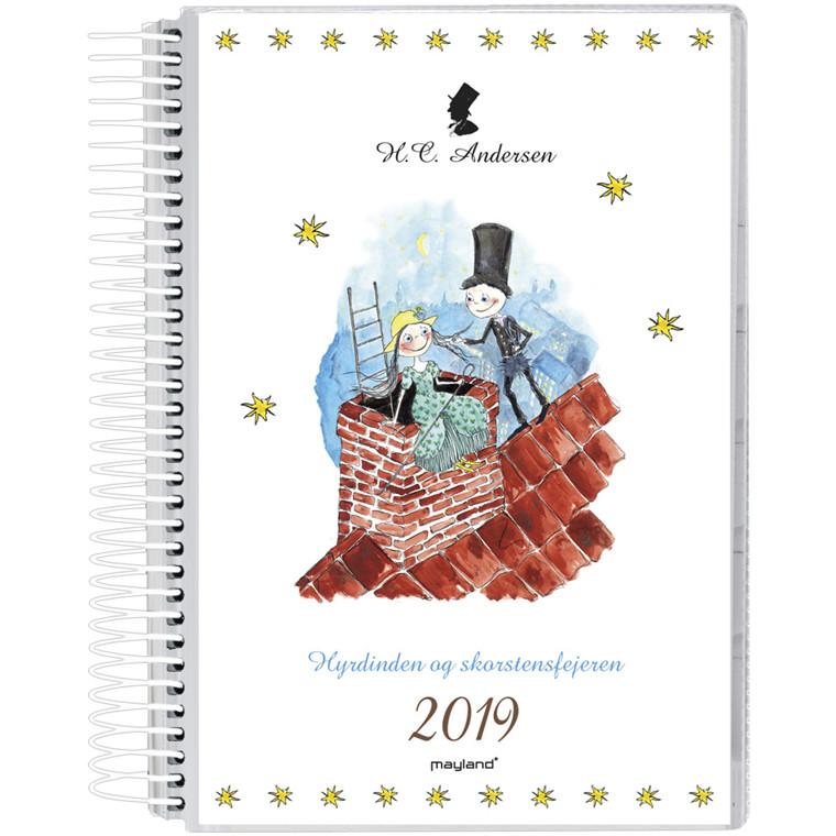 Mayland Spiralkalender 2019 PP med 2 illustrationer H. C. Andersen 12 x 17 cm 1 dag/side - 19 2092 00