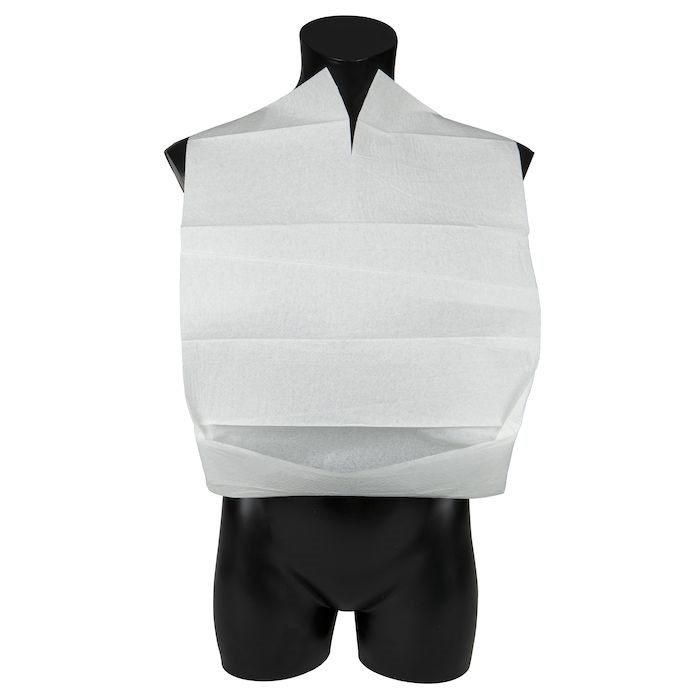 Spisestykke, Abena, hvid, med vendbar lomme, 37x55 cm