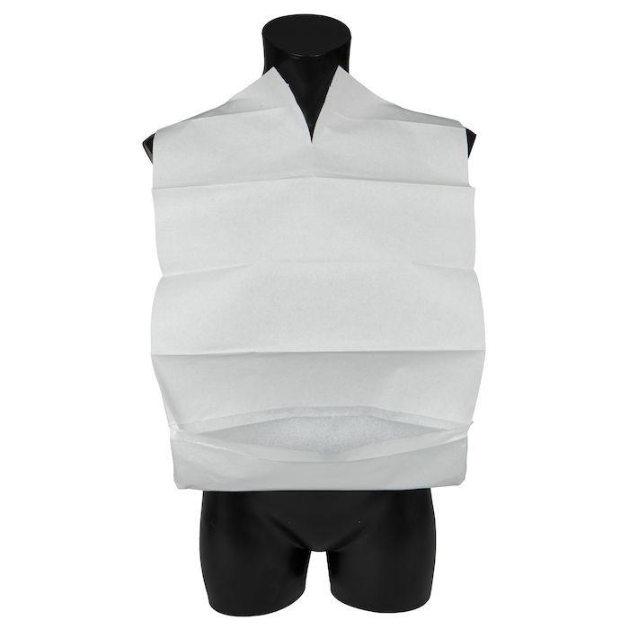 Spisestykke, Abena, hvid, med vendbar lomme, 38x60 cm