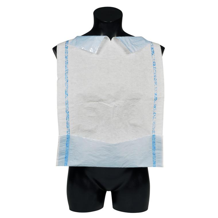 Spisestykke, Abena, hvid/blå, med lomme og limstreg, 38x75 cm