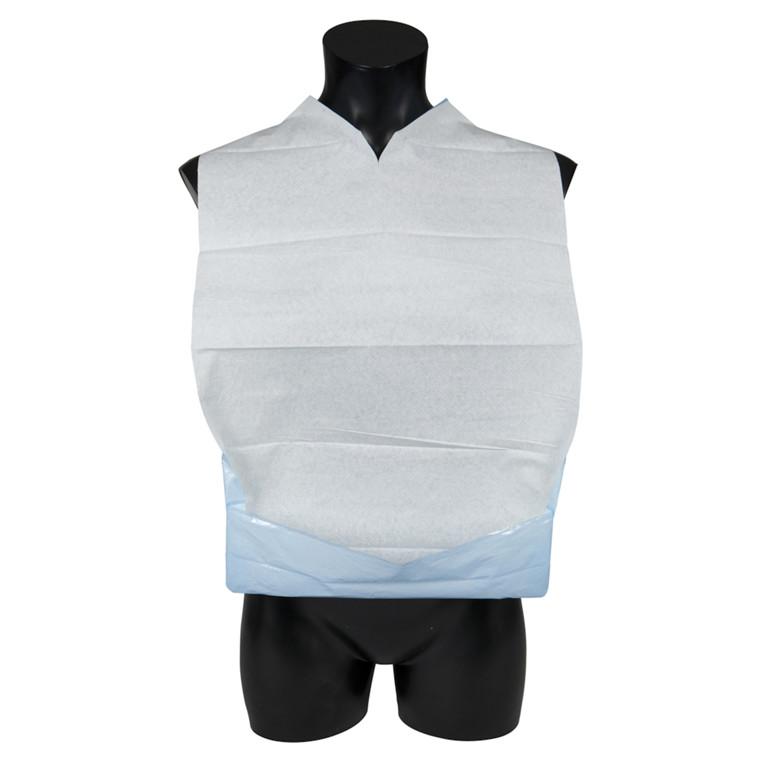 Spisestykke, Abena, hvid/blå, med vendbar lomme, 37x60 cm
