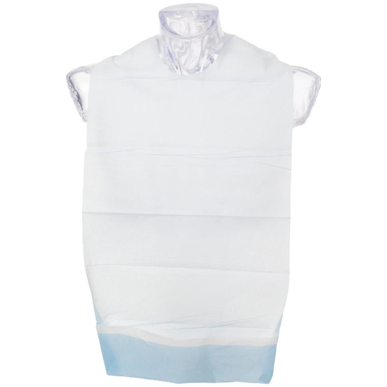Spisestykke, Abena, hvid/blå, med vendbar lomme og tape, 37x70 cm
