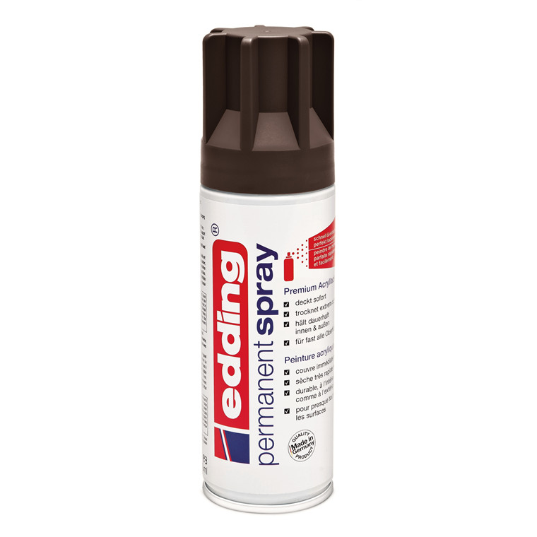 Edding Spray 907 200 ml - mat chocolate brown