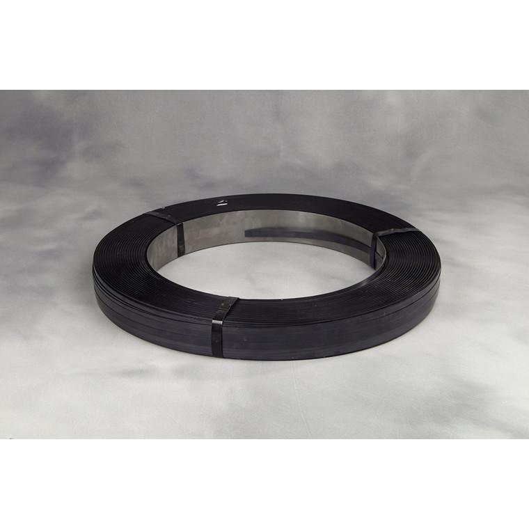 Stålbånd i 16 x 0,40 mm ca 50 kg pr rul brud 512 kg - 65 x 406 mm kerne