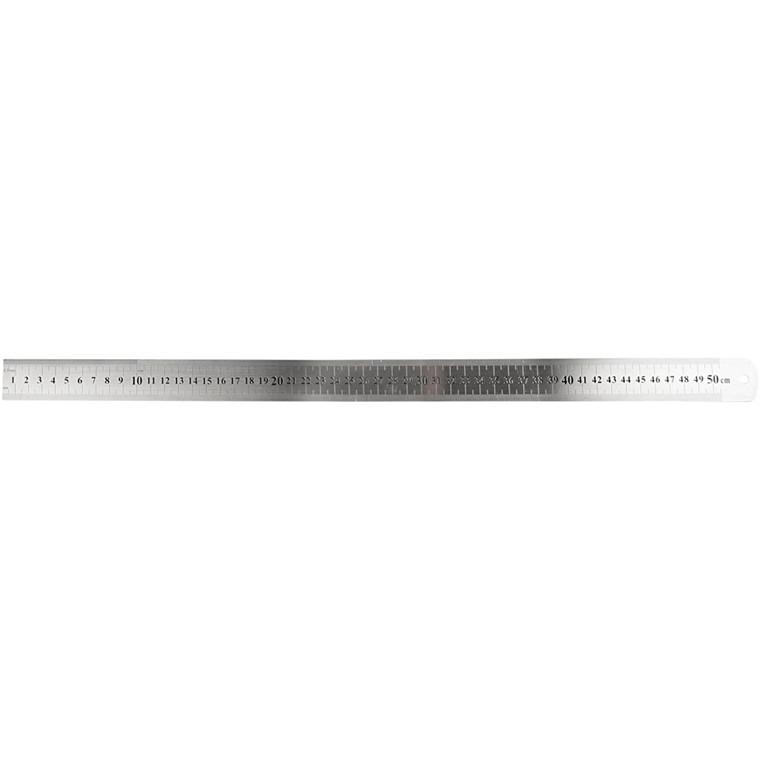 Stållineal | Længde 50 cm