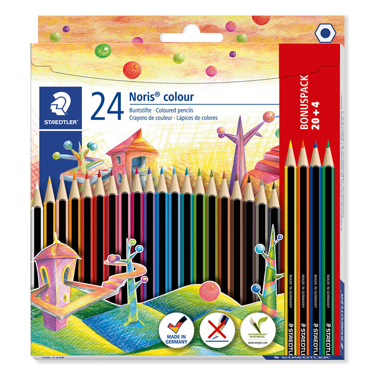 Staedtler Farveblyant Noris Colour ass (20+4)