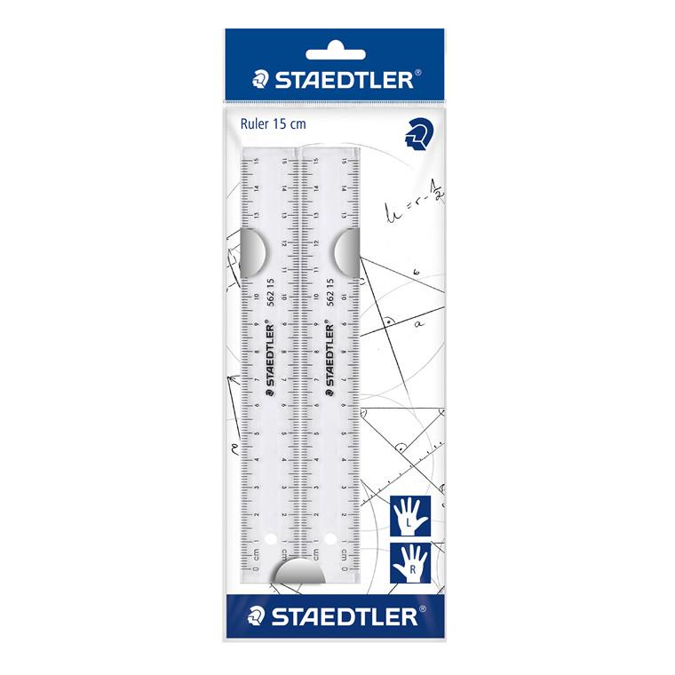 Staedtler Lineal transparent 15cm (2)