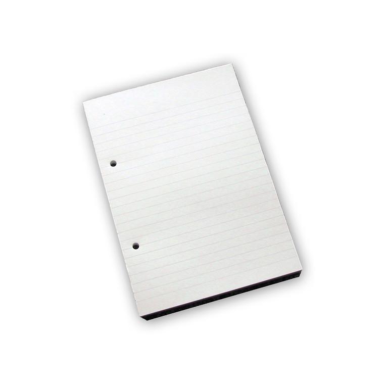 Standardblok - A5 linjeret  med 2 huller - 100 ark