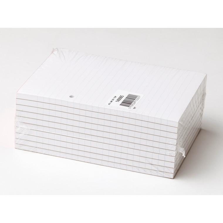 Standardblok - A5 linjeret  med 2 huller toplimet - 100 ark