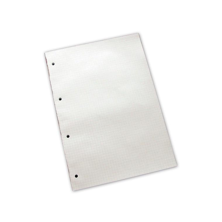 Skrive blok - A4 Ternet med 4 huller - 100 ark