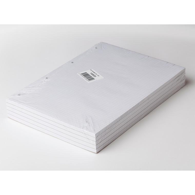 Standardblok - A4 Kvadreret med 4 huller toplimet - 50 ark