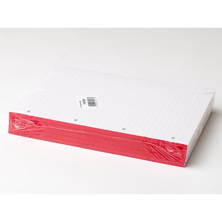 Standardblok - A4 med 4 huller linjeret -  100 ark
