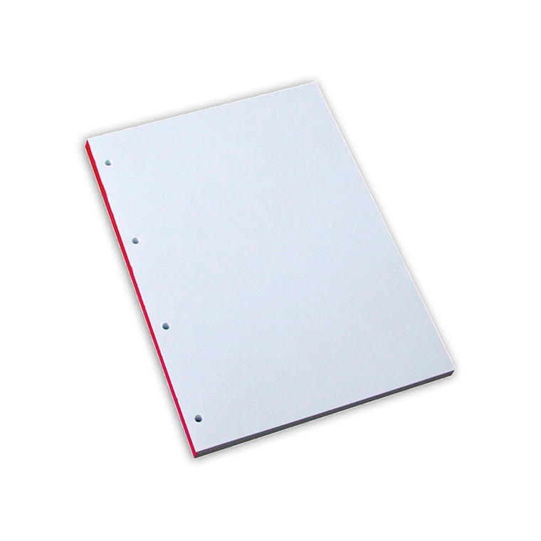 Blokke - A4 blank med 4 huller - 100 ark