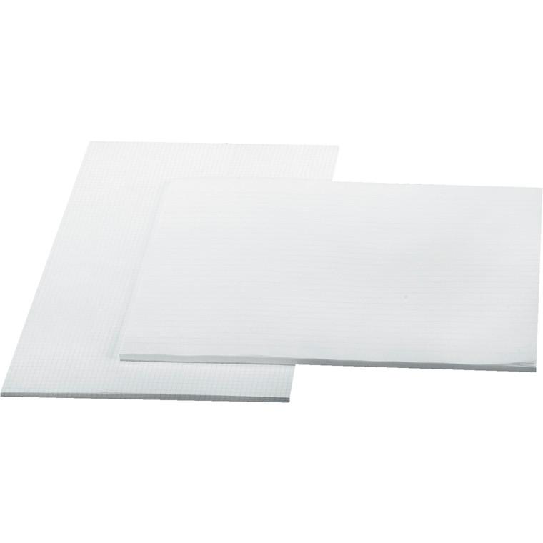 Standardblok -  A3 med linjer uden huller - 100 ark