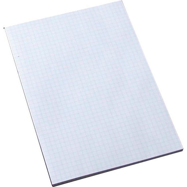 Standardblok -  A5 kvadreret toplimet - 100 ark