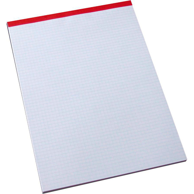 Standardblok - A4 kvadreret perforeret foroven - 100 ark