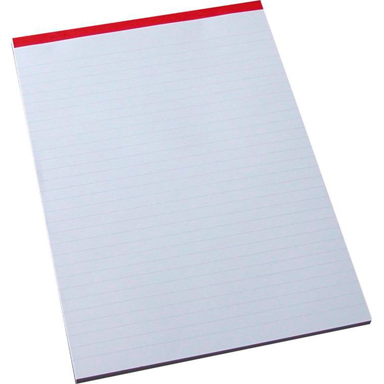 Standardblok - A4 linjeret perforeret foroven - 100 ark