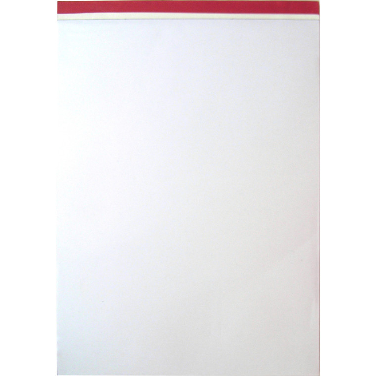 Blok - A4 blank uden linjer perforeret foroven - 100 ark