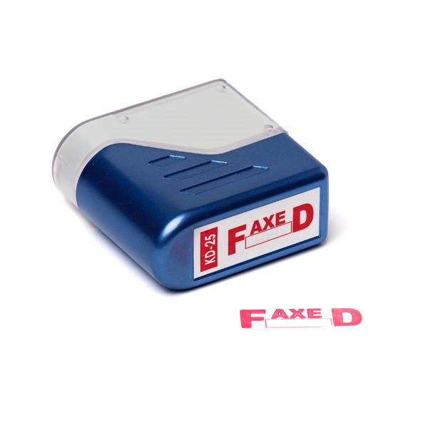 Stempel Trodat FAXED - Deskmate rød tekst